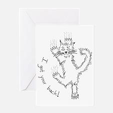 kitty_back_dark Greeting Card