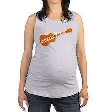 orange ukulele rocks Maternity Tank Top