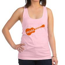 orange ukulele rocks Racerback Tank Top