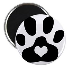 Heart Paw Print Magnet