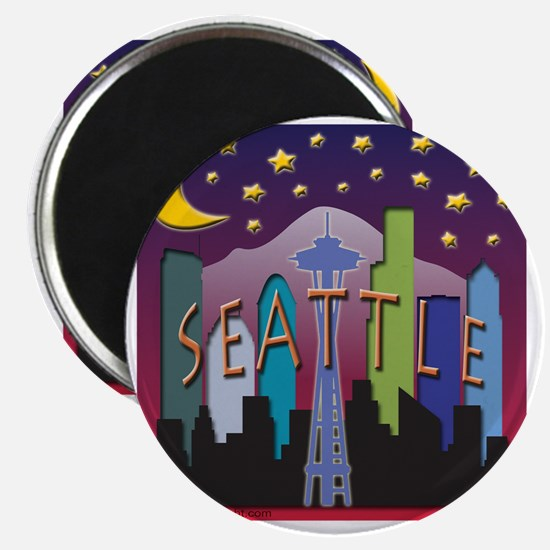 Seattle Skyline Mega Color Magnet