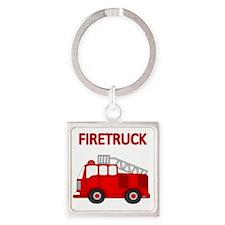 FIRETRUCK Square Keychain