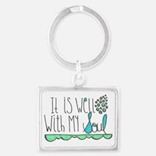 It Is Well with My Soul Landscape Keychain