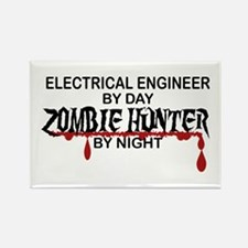 Zombie Hunter - Electrical Engineer Rectangle Magn