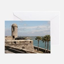 Castel San Marco Fort, St Augustine, Greeting Card