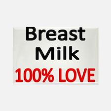BREAST MILK 100% LOVE 2 Rectangle Magnet
