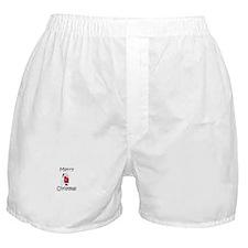 Little Santa Christmas Boxer Shorts