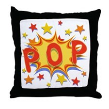 pop-curvy-T Throw Pillow