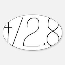 f/2.8 Sticker (Oval)