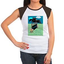Fun Grand Prix Horse Ju Women's Cap Sleeve T-Shirt