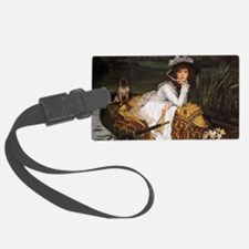 Lady in a Boat with Pug Luggage Tag