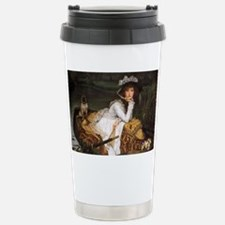 Lady in a Boat with Pug Travel Mug