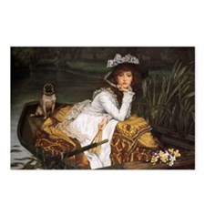 Lady in a Boat with Pug Postcards (Package of 8)