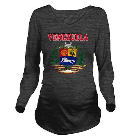 Venezuela Coat Of Ar Long Sleeve Maternity T-Shirt