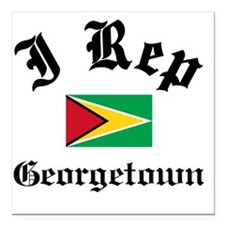 "I Rep Georgetown Square Car Magnet 3"" x 3"""