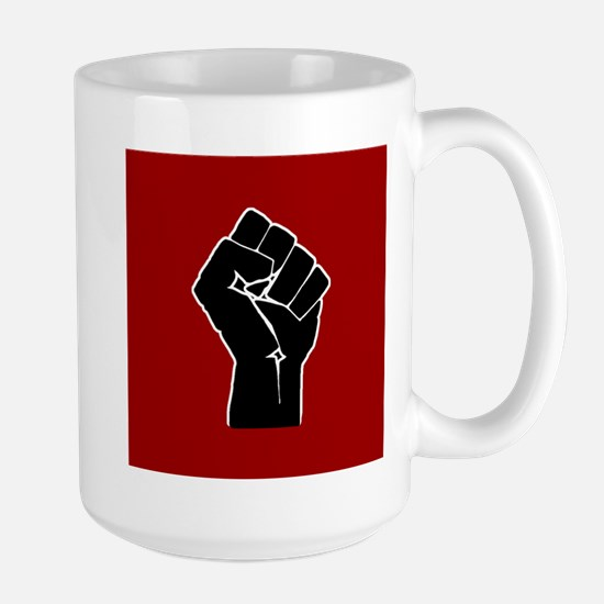 Red Solidarity Salute Mugs