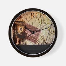 vintage big ben London map UK  fashion Wall Clock