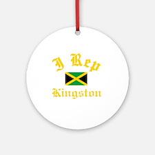 I Rep Kingston Round Ornament