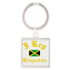 I Rep Kingston Square Keychain