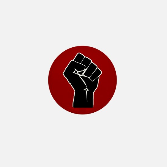 Red Solidarity Salute Mini Button