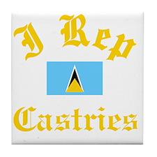 I Rep Castries Tile Coaster