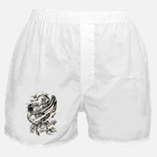 Dragon  Phoenix Tattoo Art A4 Boxer Shorts