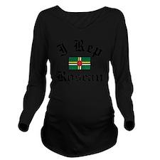 I Rep Roseau Long Sleeve Maternity T-Shirt