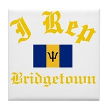 I Rep Bridgetown Tile Coaster