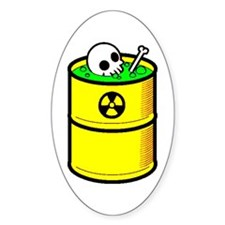 Toxic Wasted - Oval Stickers