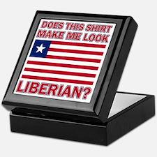 Does This Shirt Make Me Look Liberian Keepsake Box