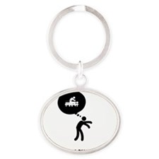 Acupuncture-A Oval Keychain