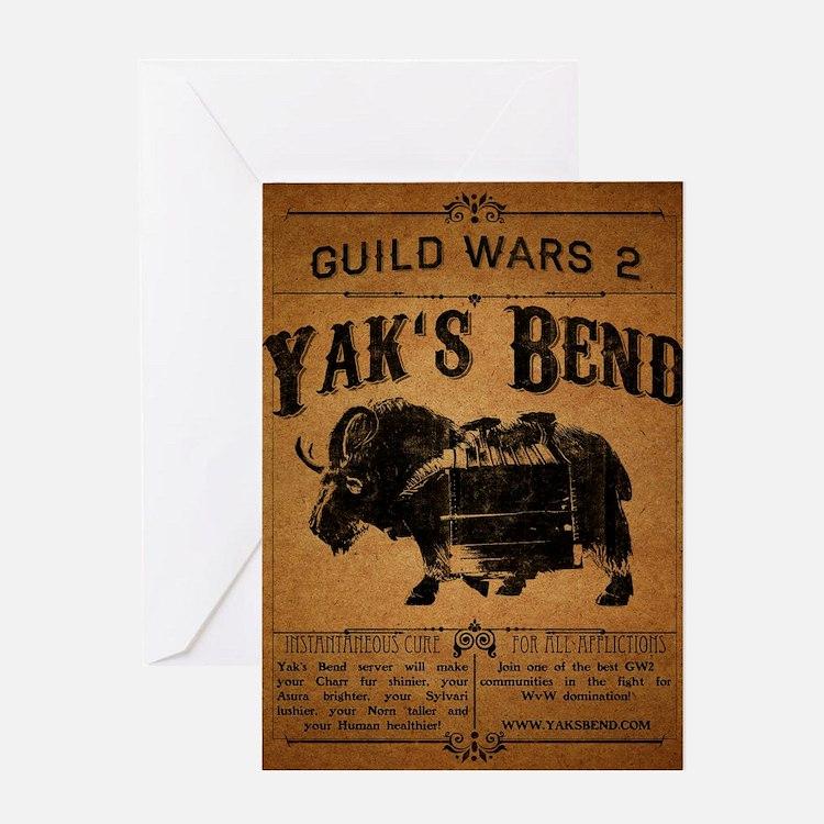 Yaks Bend Logo Greeting Card