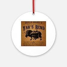 Yaks Bend Logo Round Ornament