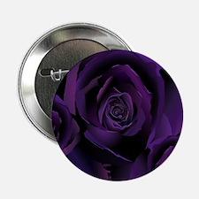 "Black Purple Rose 2.25"" Button"