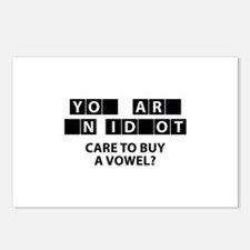 Care To Buy A Vowel? Postcards (Package of 8)