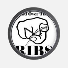 Hand over those ribs Wall Clock