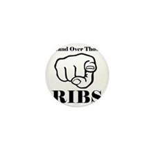 Hand over those ribs Mini Button