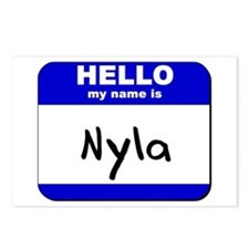 hello my name is nyla  Postcards (Package of 8)