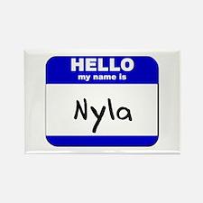 hello my name is nyla Rectangle Magnet