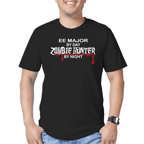 Zombie Hunter - EE Major Men's Fitted T-Shirt (dar