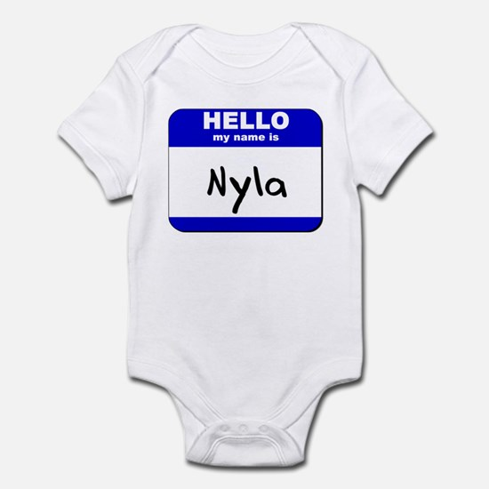 hello my name is nyla  Infant Bodysuit