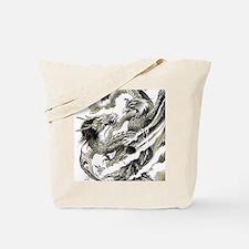 Dragon  Phoenix Tattoo Flip Flops Tote Bag