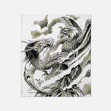 Dragon  Phoenix Tattoo Flip Flops Throw Blanket