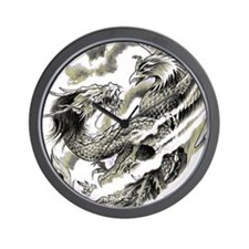 Dragon  Phoenix Tattoo Flip Flops Wall Clock