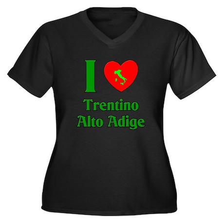 I Love Trentino Alto Adige It Women's Plus Size V-