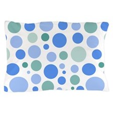 Blue and Green Dots Pillow Case
