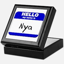 hello my name is nya Keepsake Box