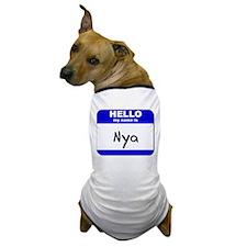 hello my name is nya Dog T-Shirt