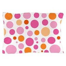 Pink and Orange Dots Pillow Case