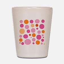 Pink and Orange Dots Shot Glass